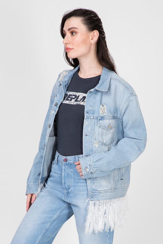 Женская голубая джинсовая куртка 311