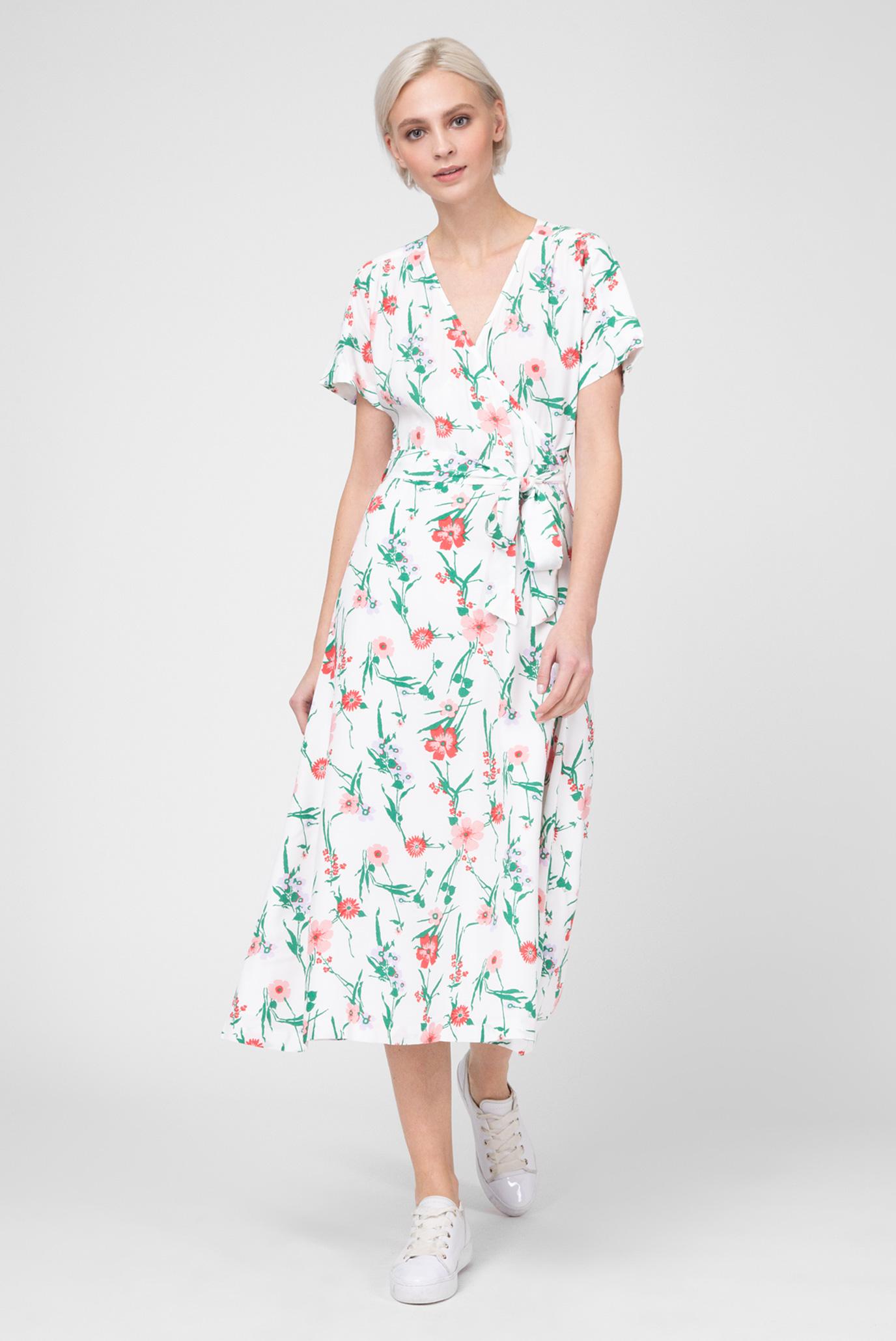 df0765cb23fa Купить Женское белое платье с принтом Gant Gant 4503056 – Киев ...