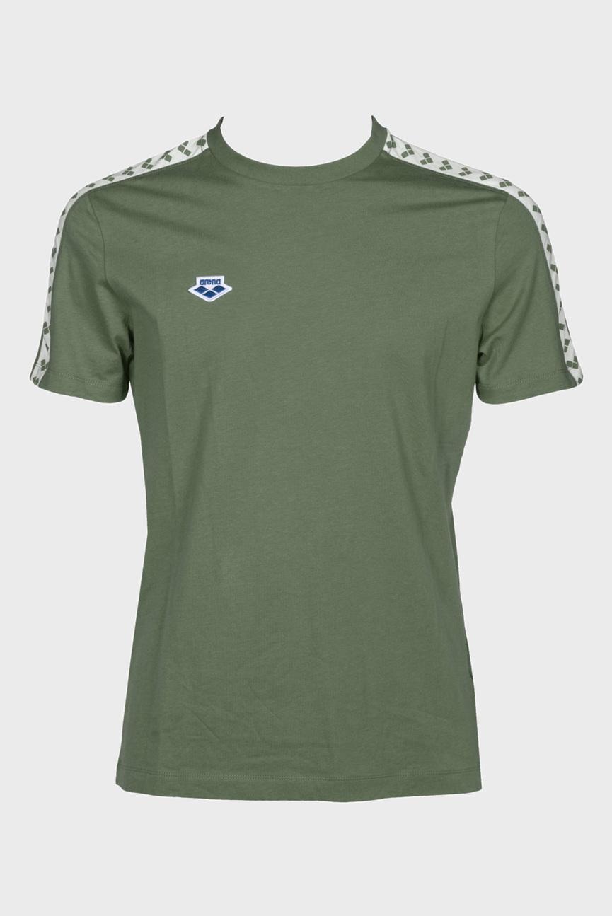 Мужская оливковая футболка TEAM