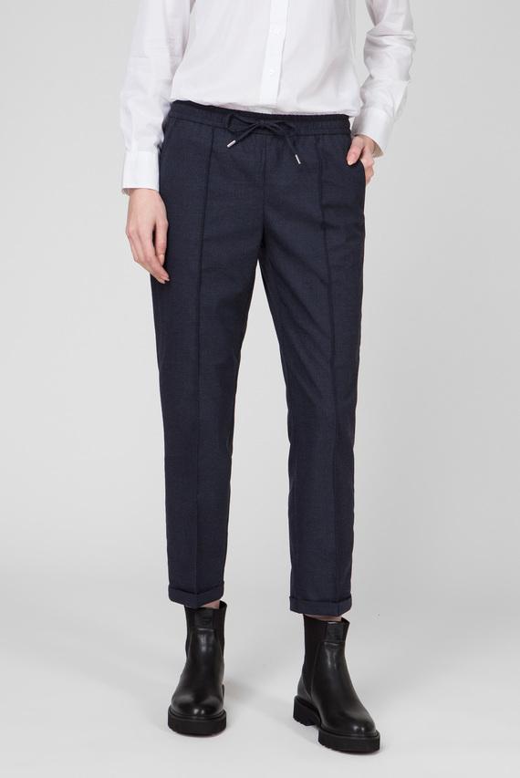Женские темно-синие брюки WOOL LOOK PULL ON