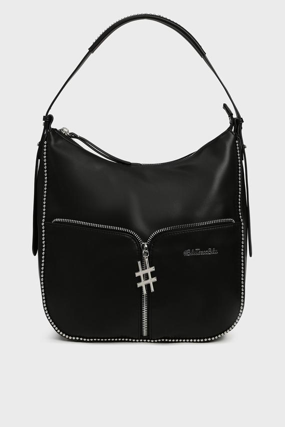 Женская черная сумка на плечо BUBBLES