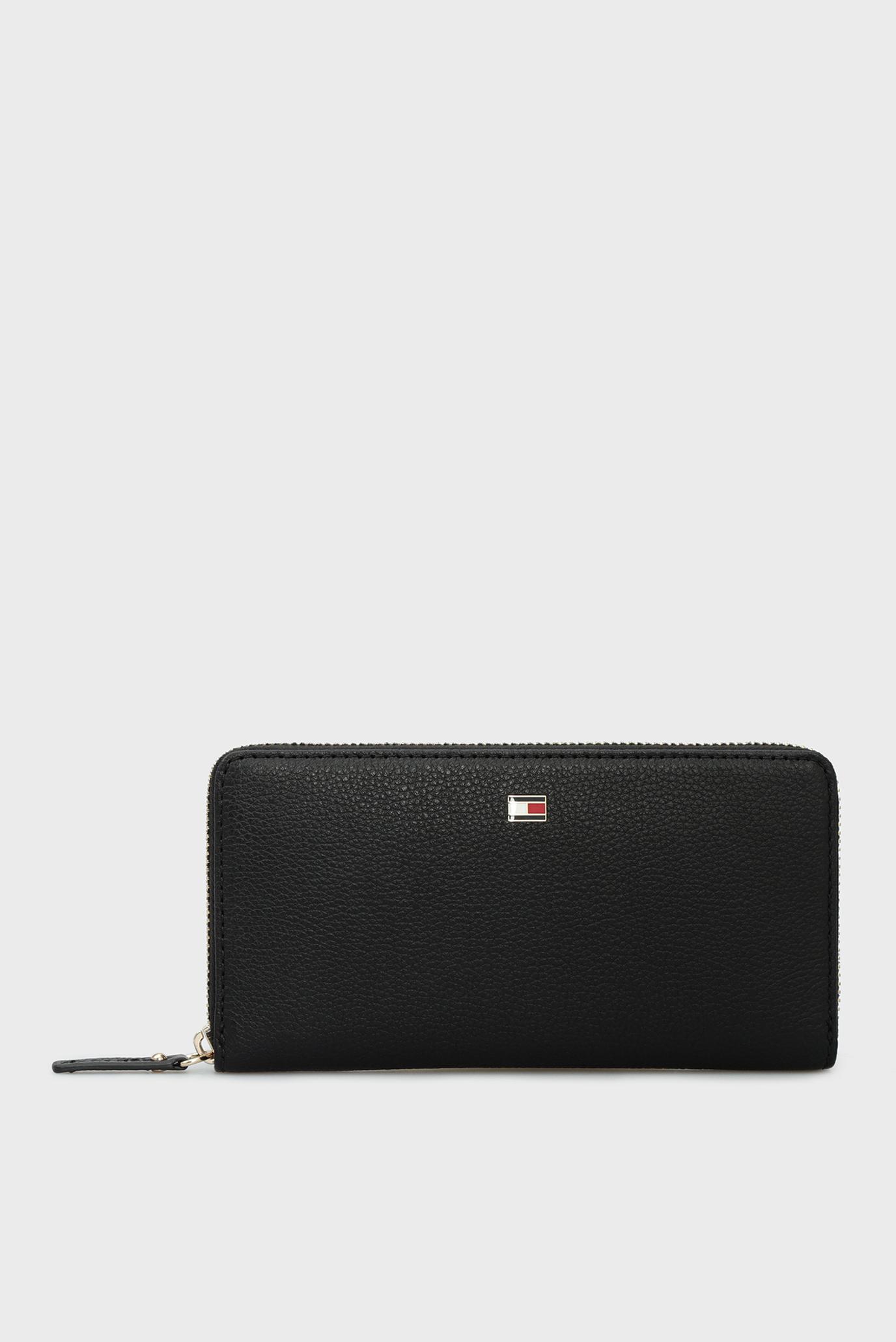 Жіночий чорний шкіряний гаманець BASIC LEATHER LARGE 1