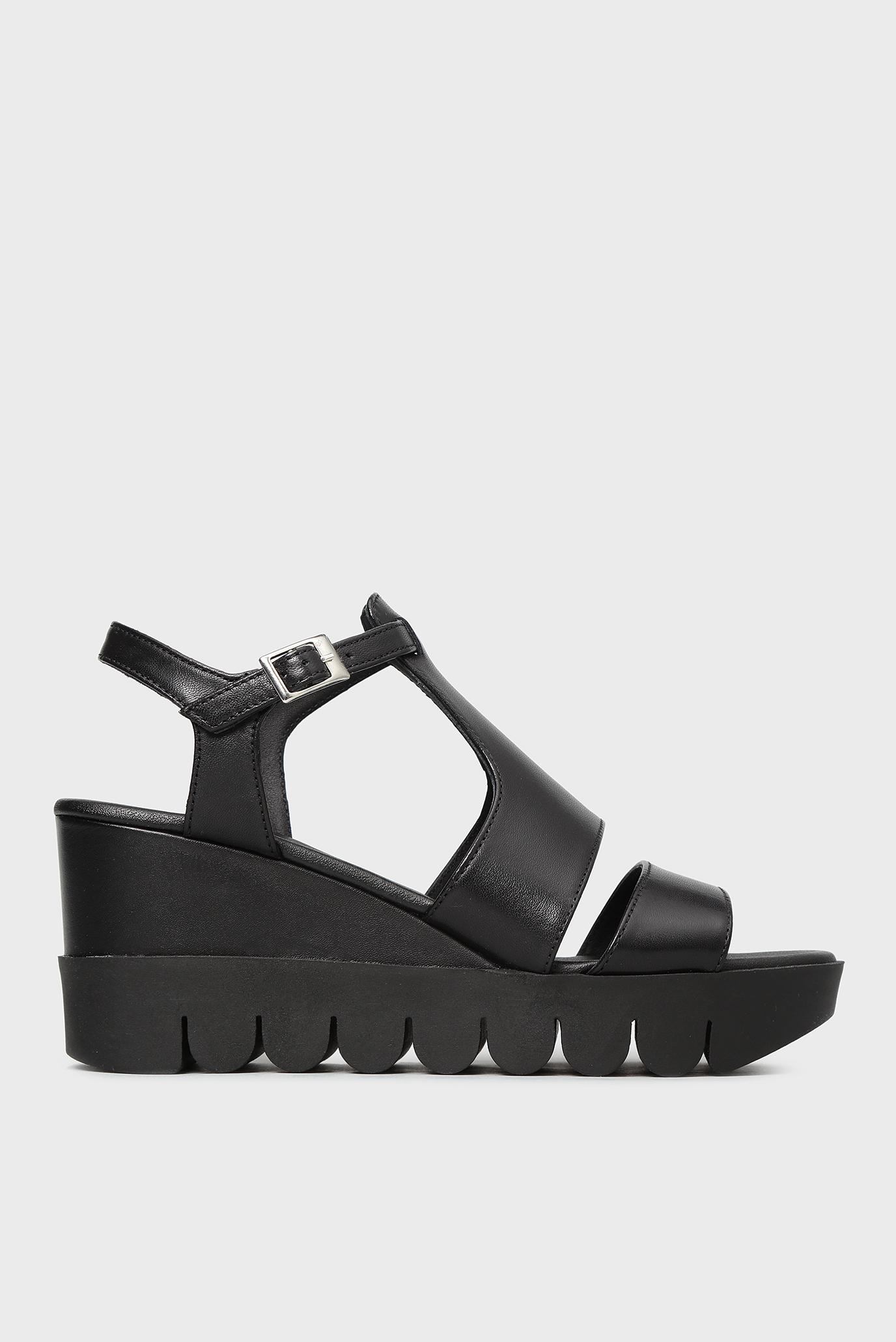 Купить Женские черные кожаные босоножки Tosca Blu  Tosca Blu  SS1820S386 – Киев, Украина. Цены в интернет магазине MD Fashion