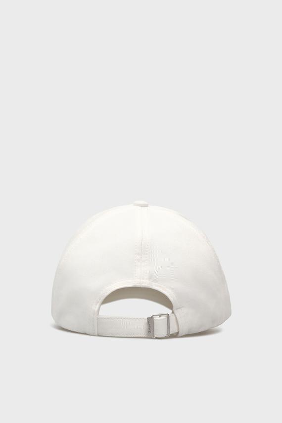 Мужская белая кепка с вышивкой
