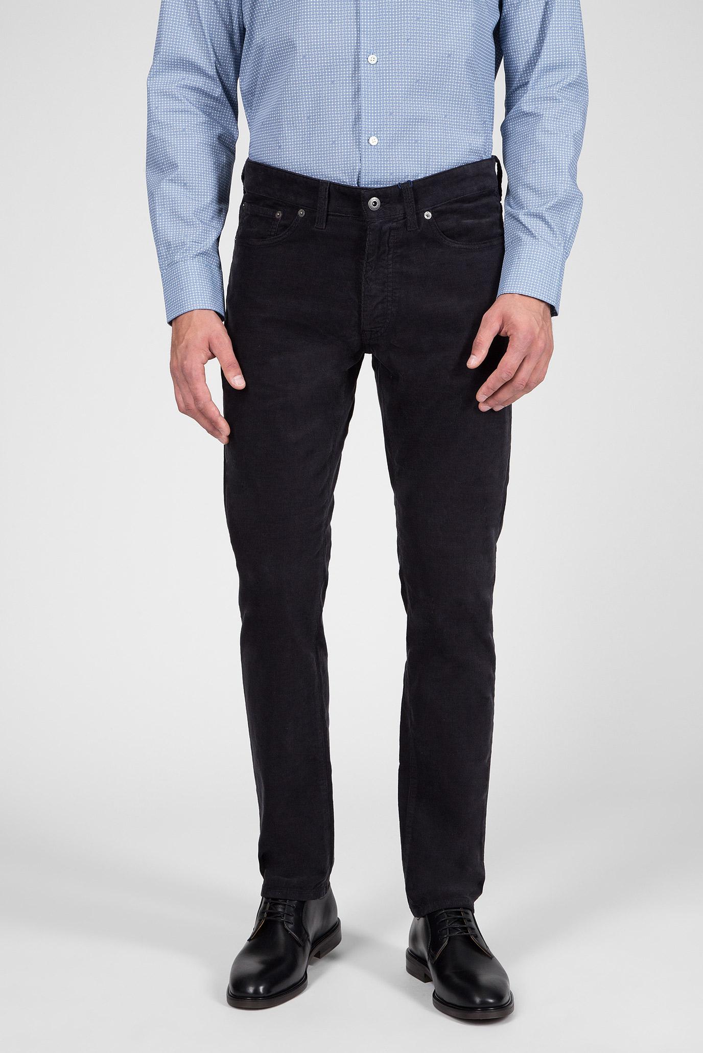 Мужские темно-серые вельветовые брюки Slim Cord 1