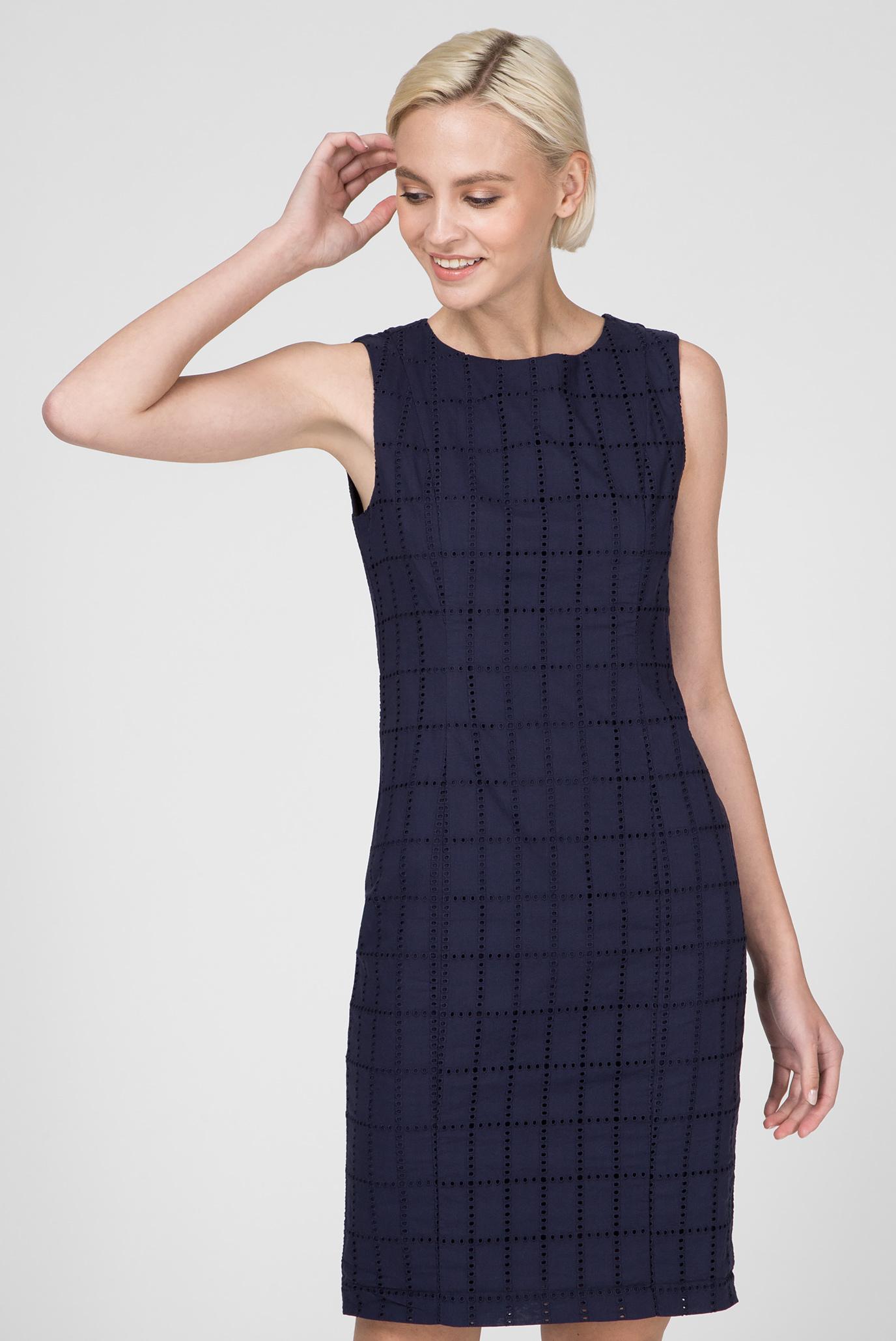 06c8a2d8a0e4 Купить Женское темно-синее платье BRODERIE ANGLAISE Gant Gant ...