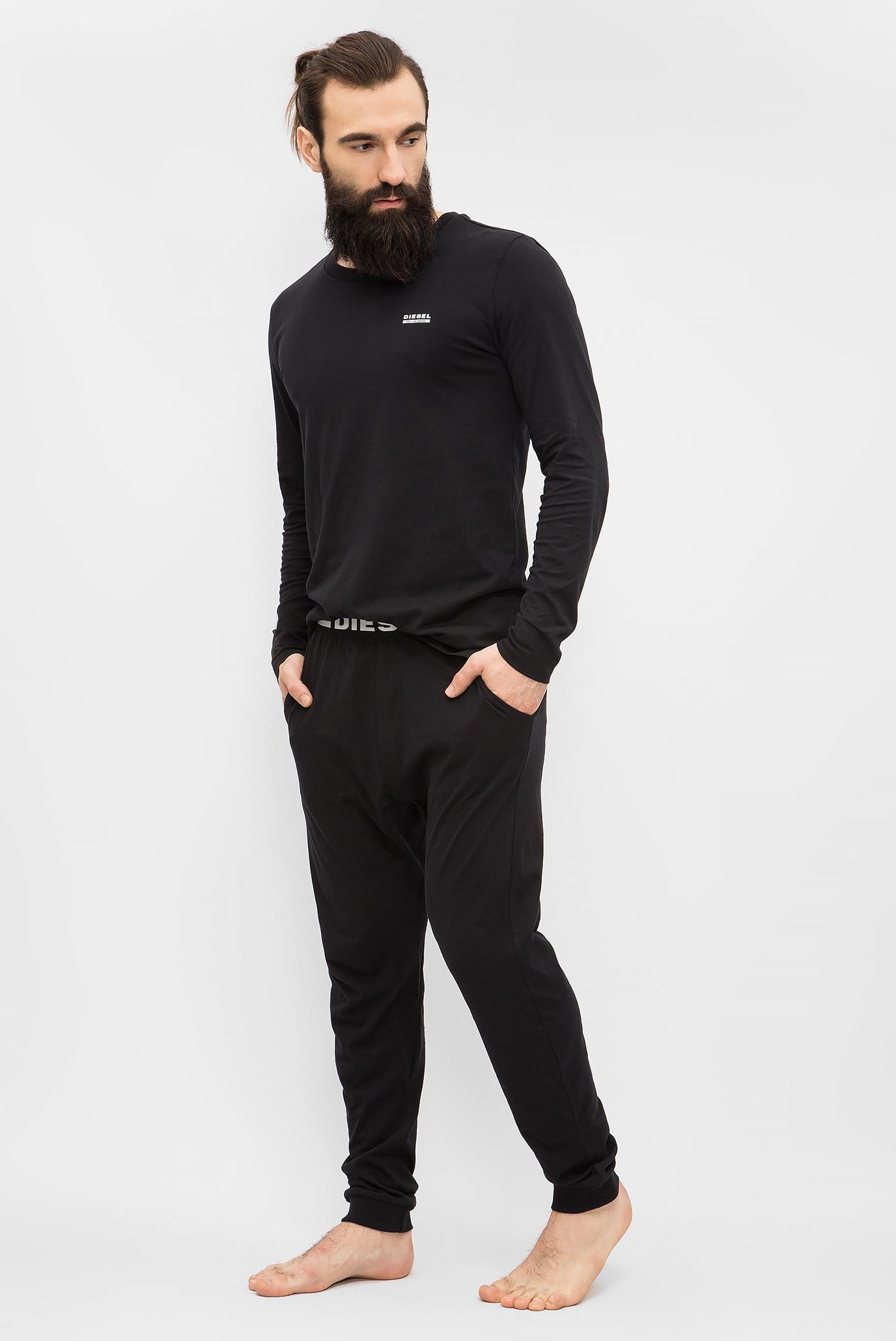 dc029d5010350 Купить Мужская черная пижама (лонгслив, брюки) Diesel Diesel 00S9ND 0CALD –  Киев, Украина. Цены в интернет магазине ...