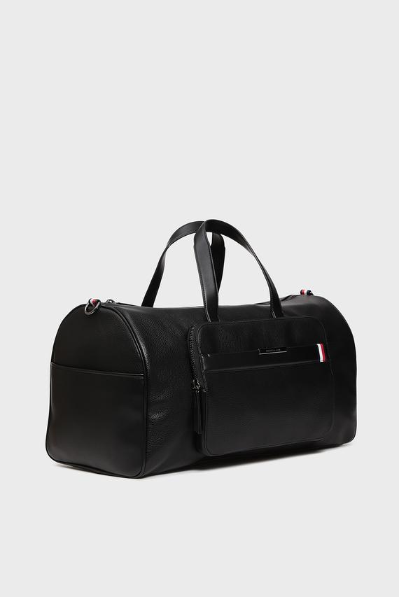 Мужская черная дорожная сумка TH DOWNTOWN DUFFLE