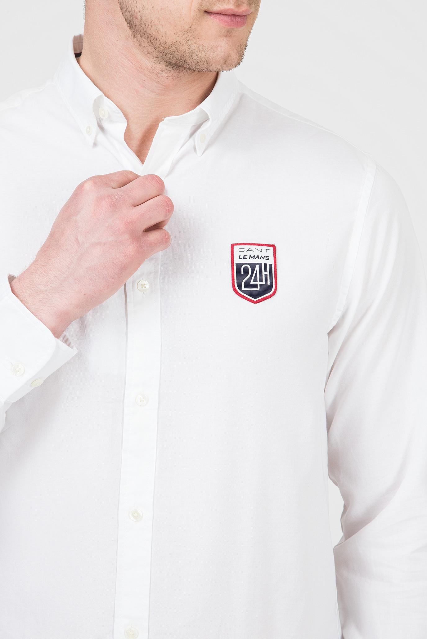 Мужская белая рубашка LM Gant