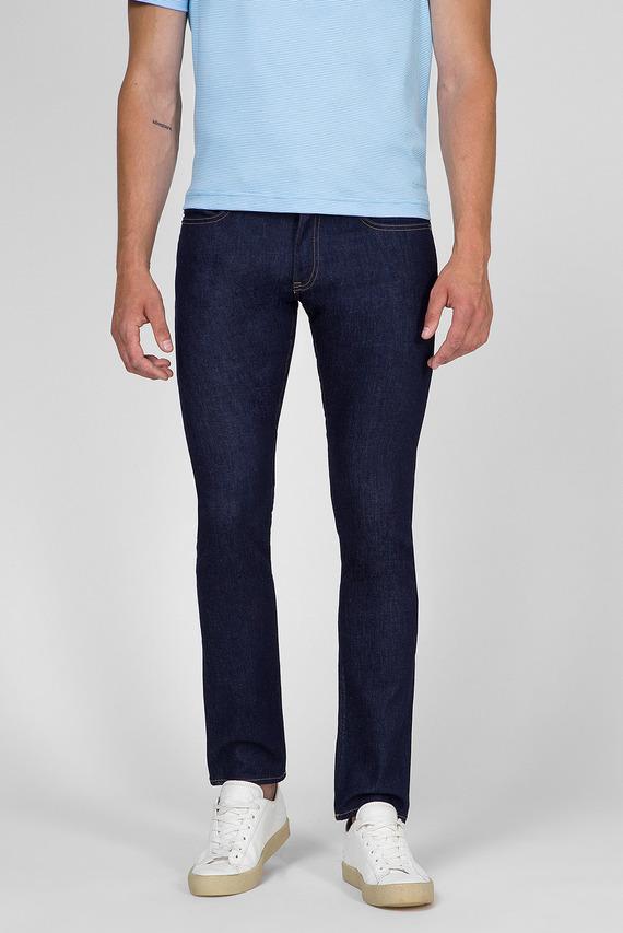 Мужские темно-синие джинсы SLIM FIT BLUE STRETCH DENIM