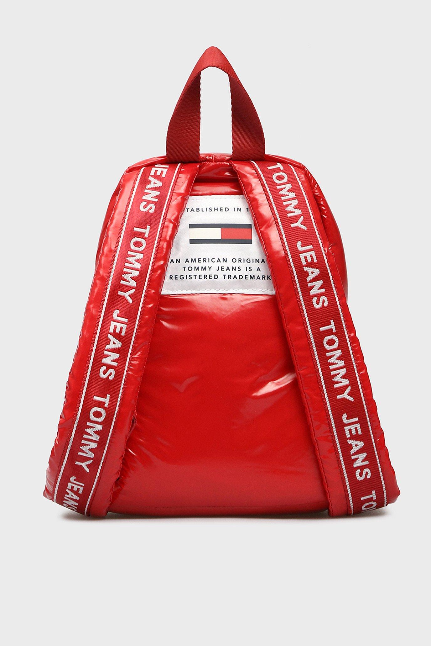 Женский красный рюкзак TJU LOGO TAPE MICRO Tommy Hilfiger