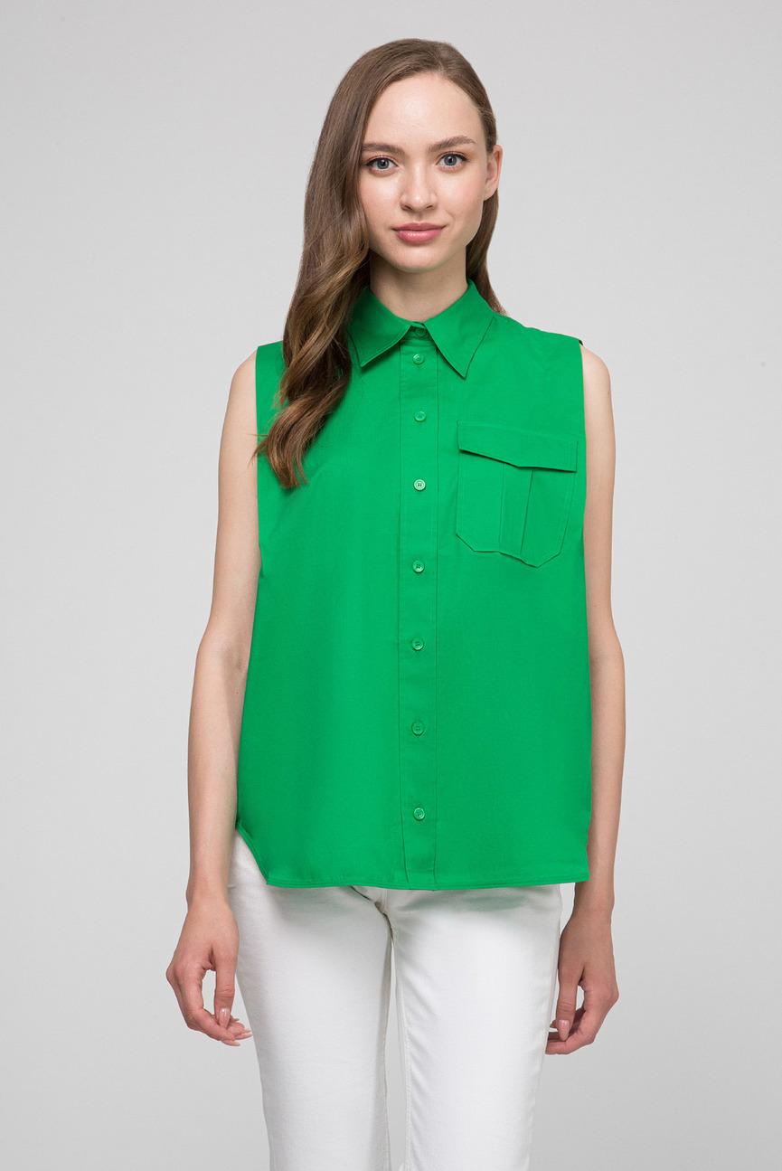 Женская зеленая рубашка POLICE