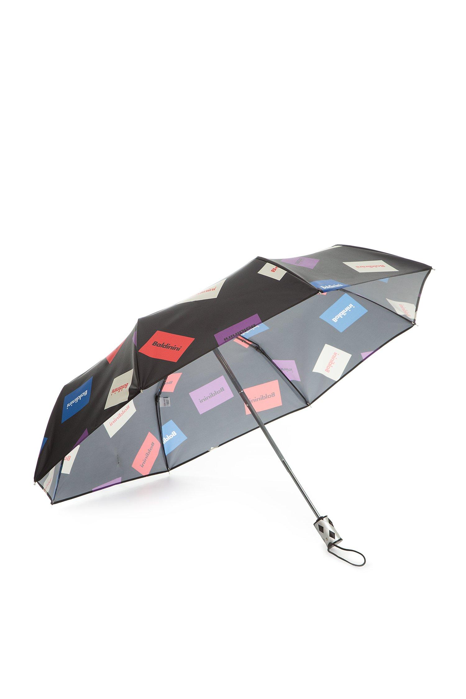 Женский черный зонт с принтом 1