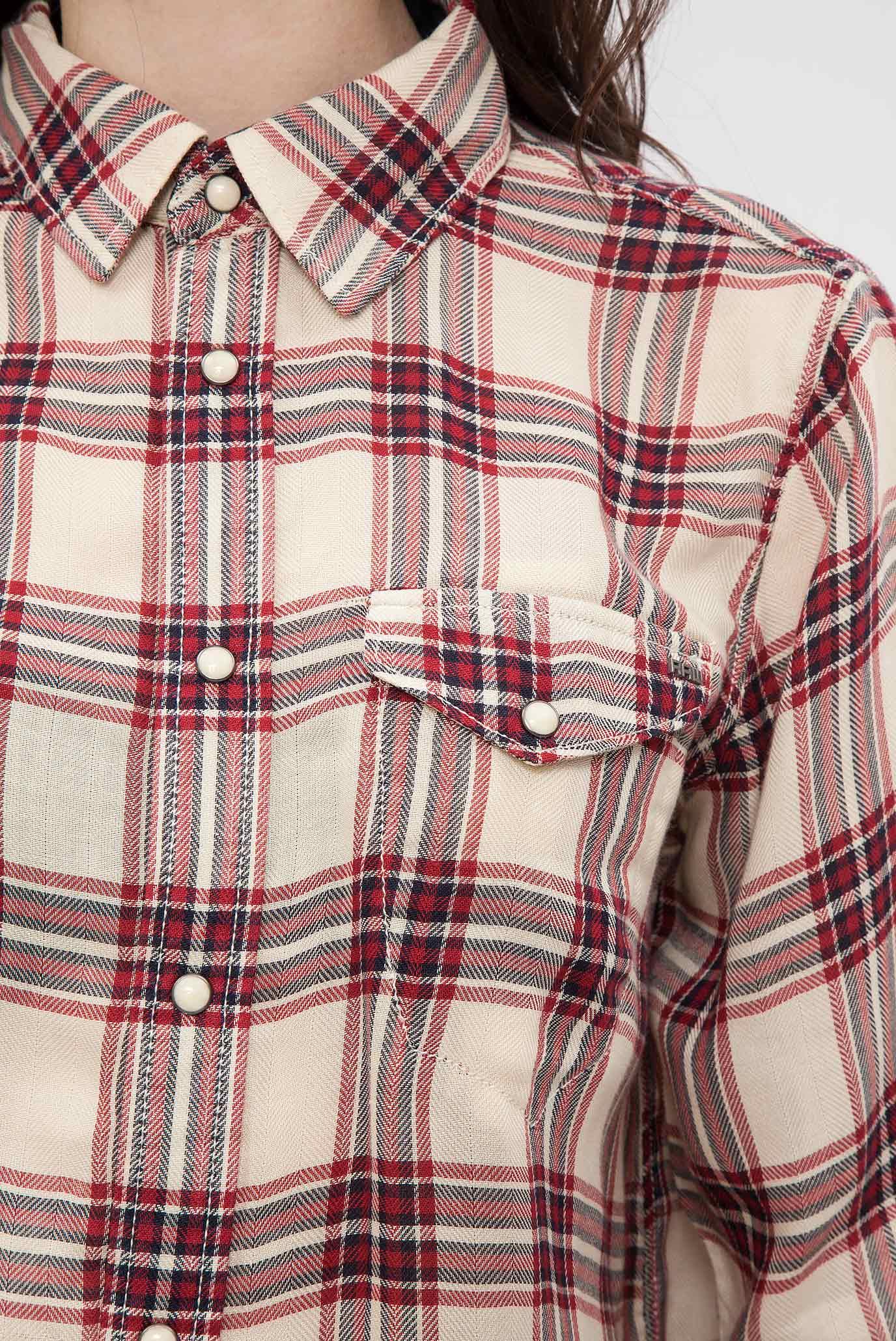 Купить Женская красная рубашка в клетку G-Star RAW G-Star RAW D02491,8202 – Киев, Украина. Цены в интернет магазине MD Fashion