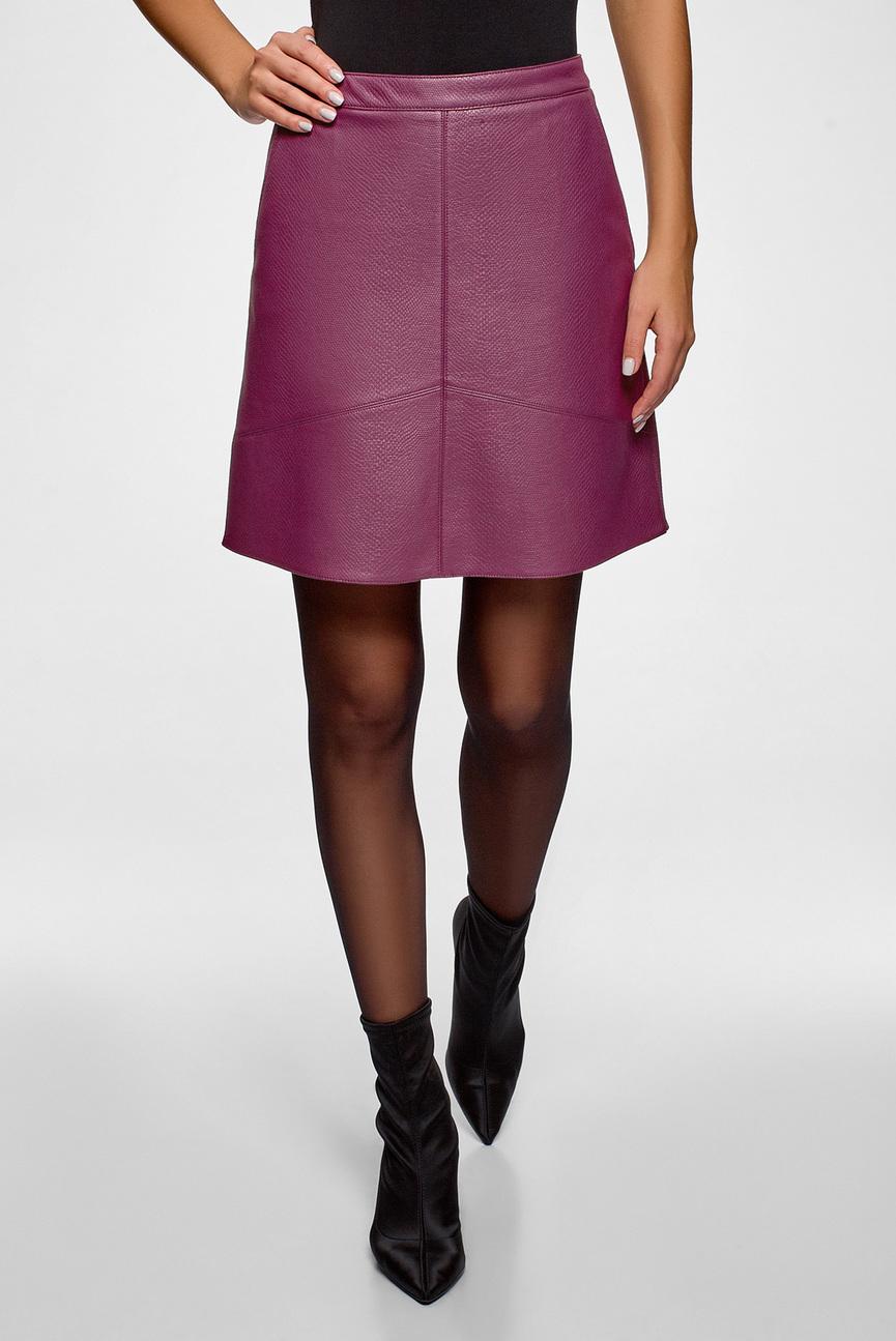 Женская малиновая юбка
