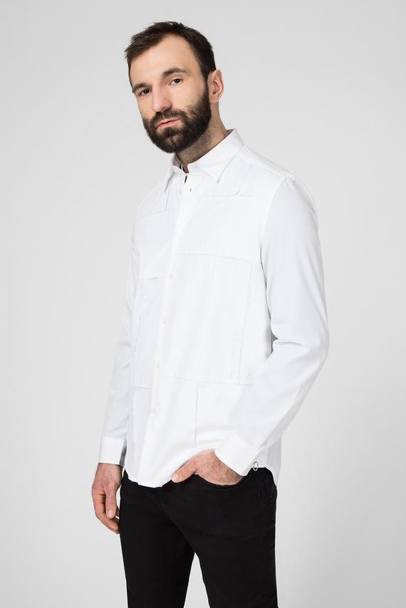 Мужская белая рубашка S-AUDREY