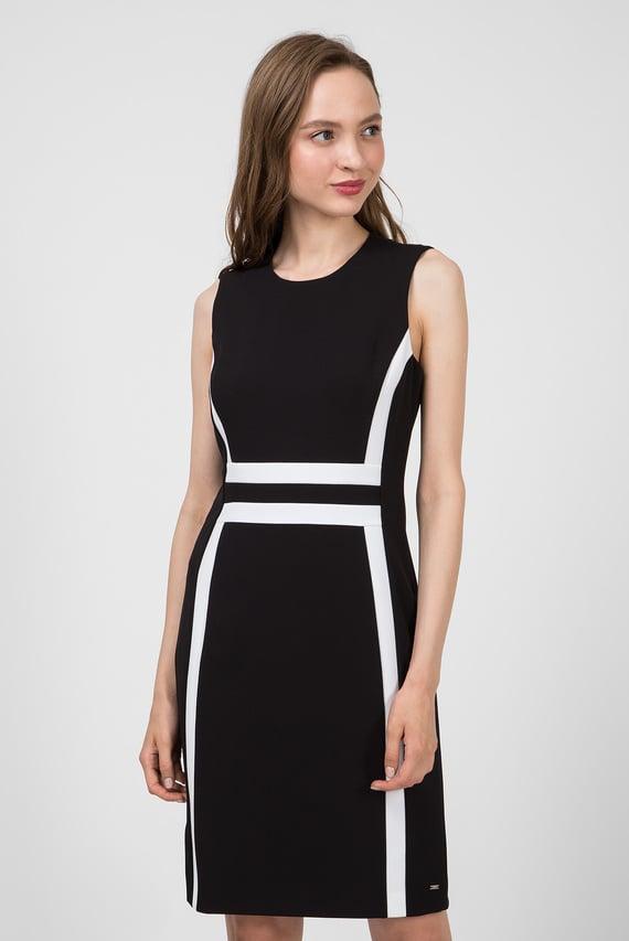 Женское черное платье CONTRAST PANEL