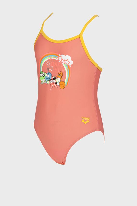 Детский оранжевый купальник AWT KIDS GIRL ONE PIECE