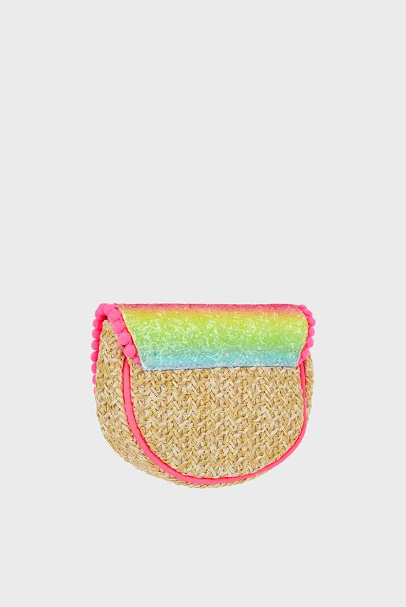 Детская розовая сумка RAINBOW GLITTER FAUX