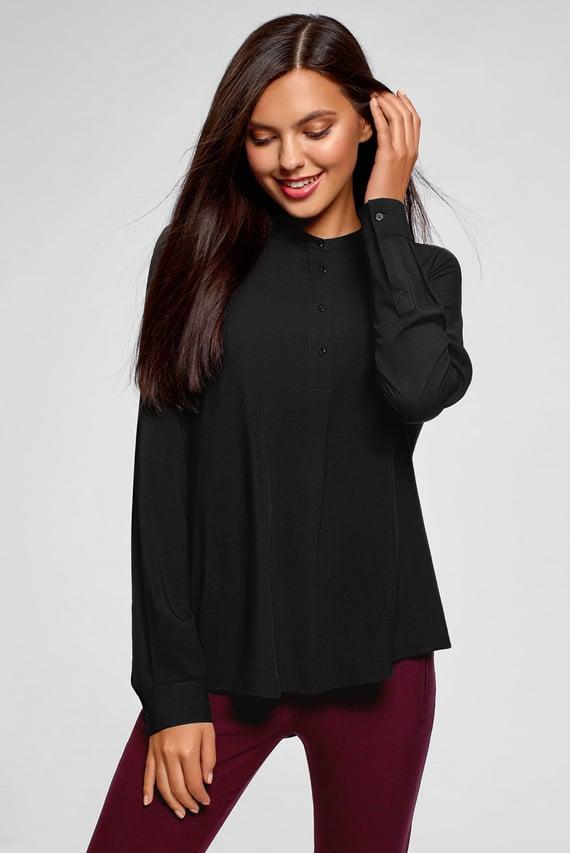 Женская черная блуза