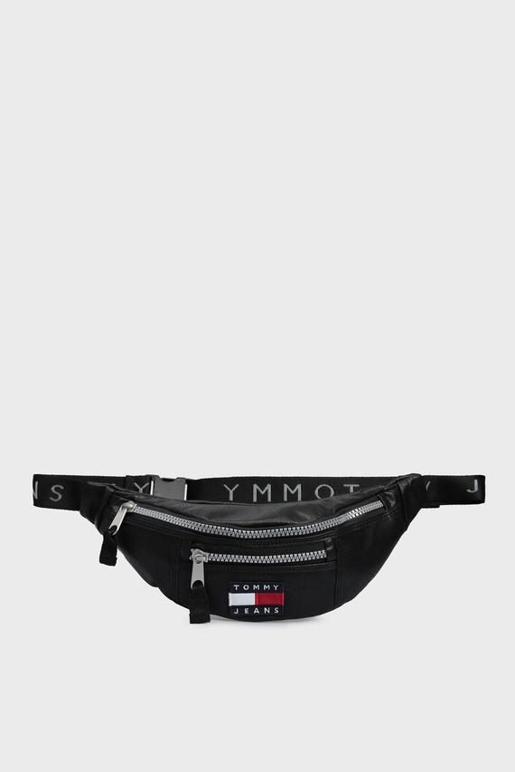 Мужская черная кожаная поясная сумкаTJM HERITAGE BUMBAG LTHR