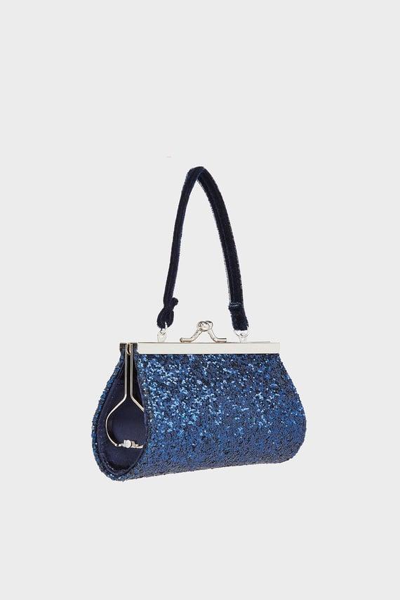 Детская синяя сумка Rylee Glitter Bow