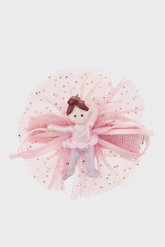Детская розовая заколка Cute Darcy Ballerina