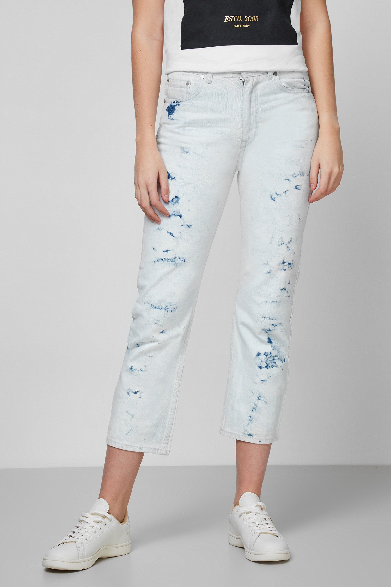 Женские светло-голубые джинсы 1