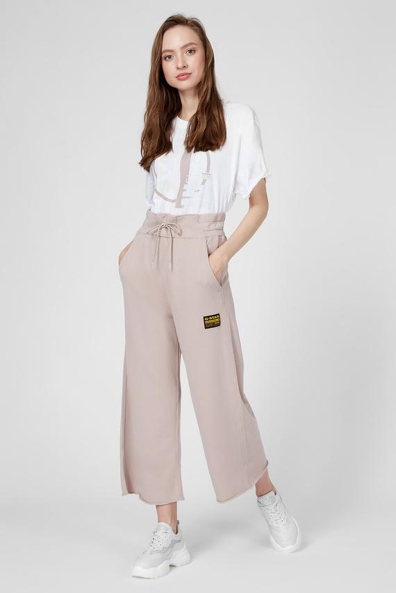 Женские пудровые кюлоты High waist culotte