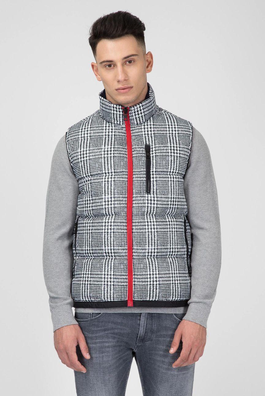 Мужской жилет Printed Check Down Vest