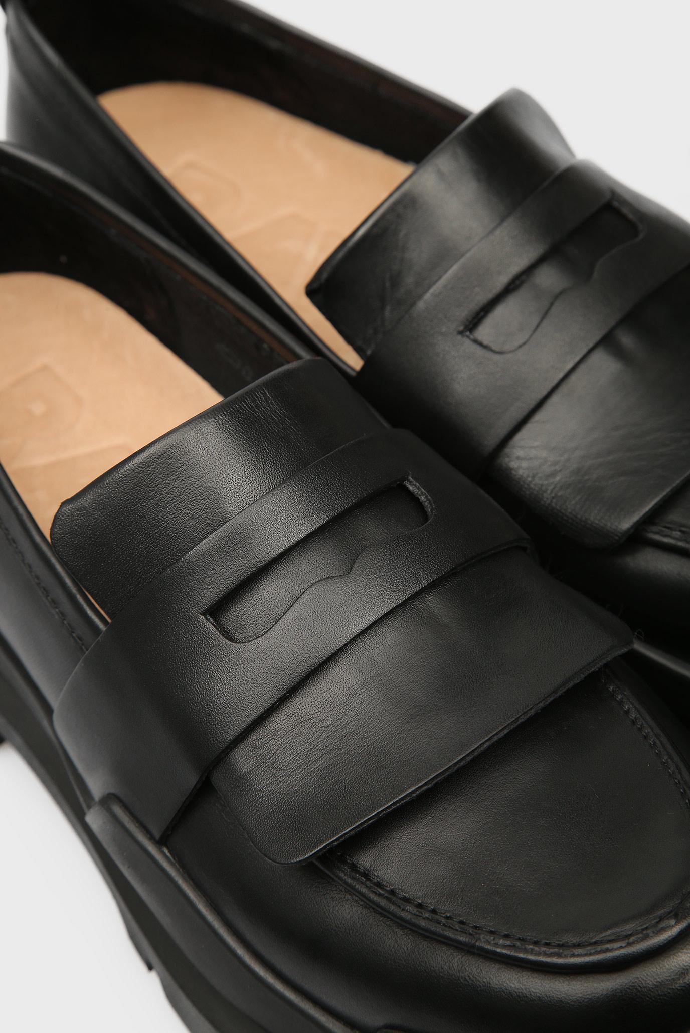 Женские черные кожаные лоферы Rackam Loafer G-Star RAW