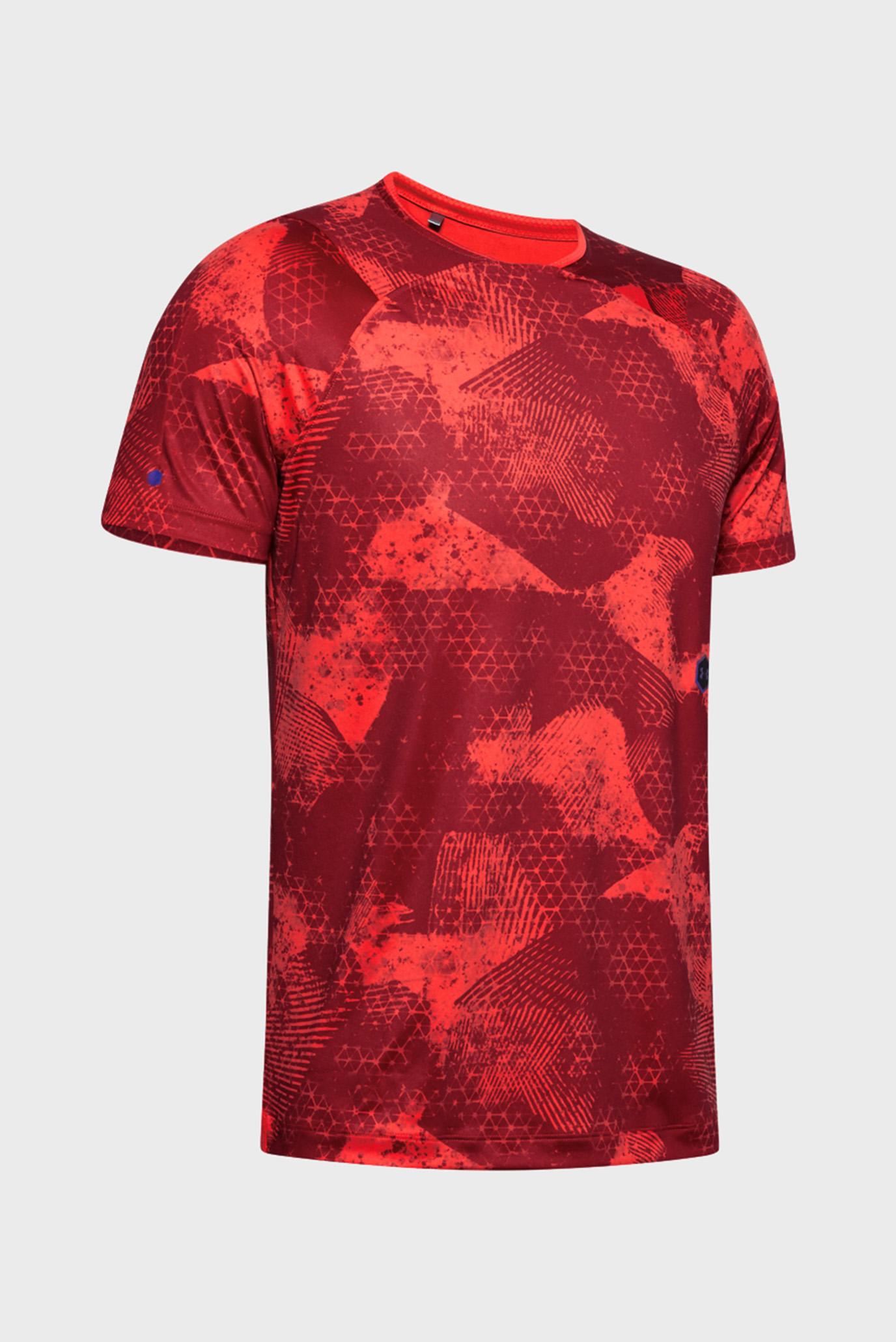 Мужская красная футболка UA Rush SS Under Armour
