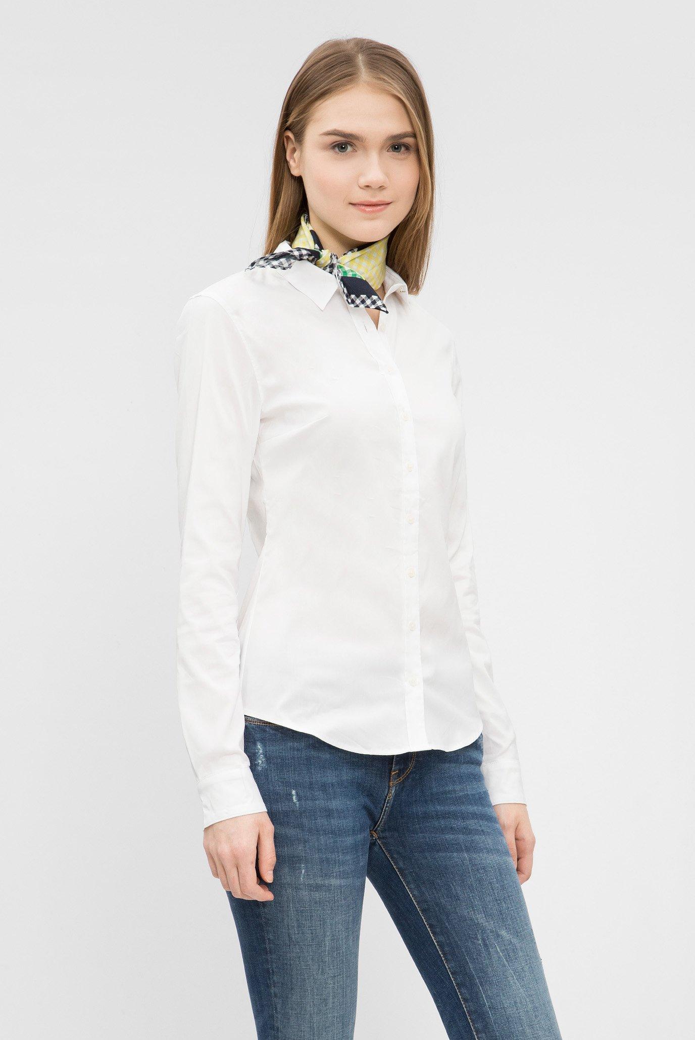 Купить Женская белая рубашка  Tommy Hilfiger Tommy Hilfiger WW0WW22062 – Киев, Украина. Цены в интернет магазине MD Fashion