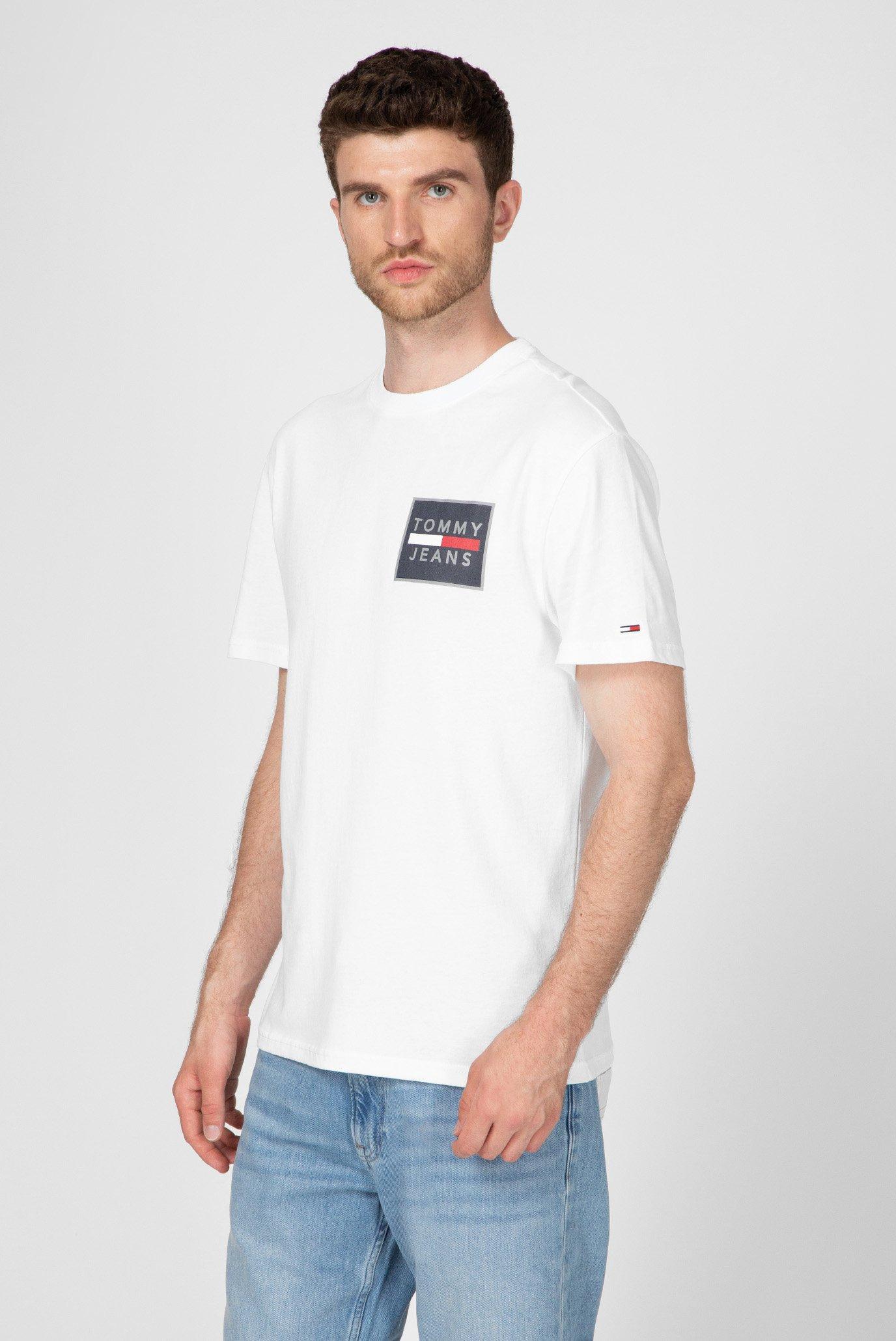 Мужская белая футболка TJM CHEST BOX Tommy Hilfiger