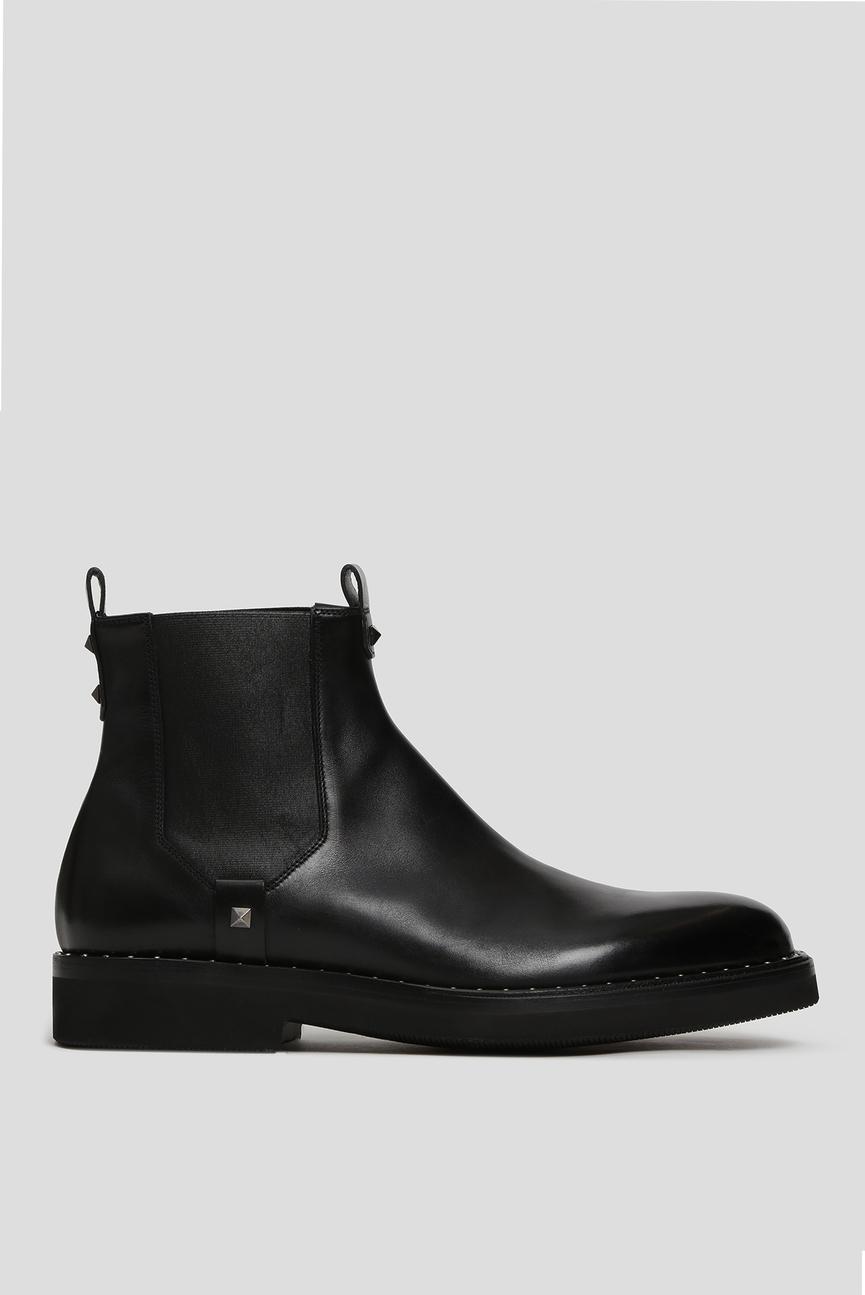Мужские черные кожаные челси POLACCO