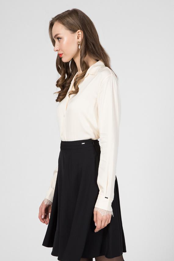 Женская бежевая блуза LS LACE TRIM