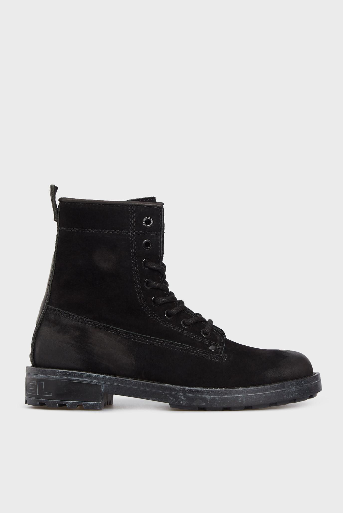 Жіночі чорні шкіряні черевики THROUPER 1