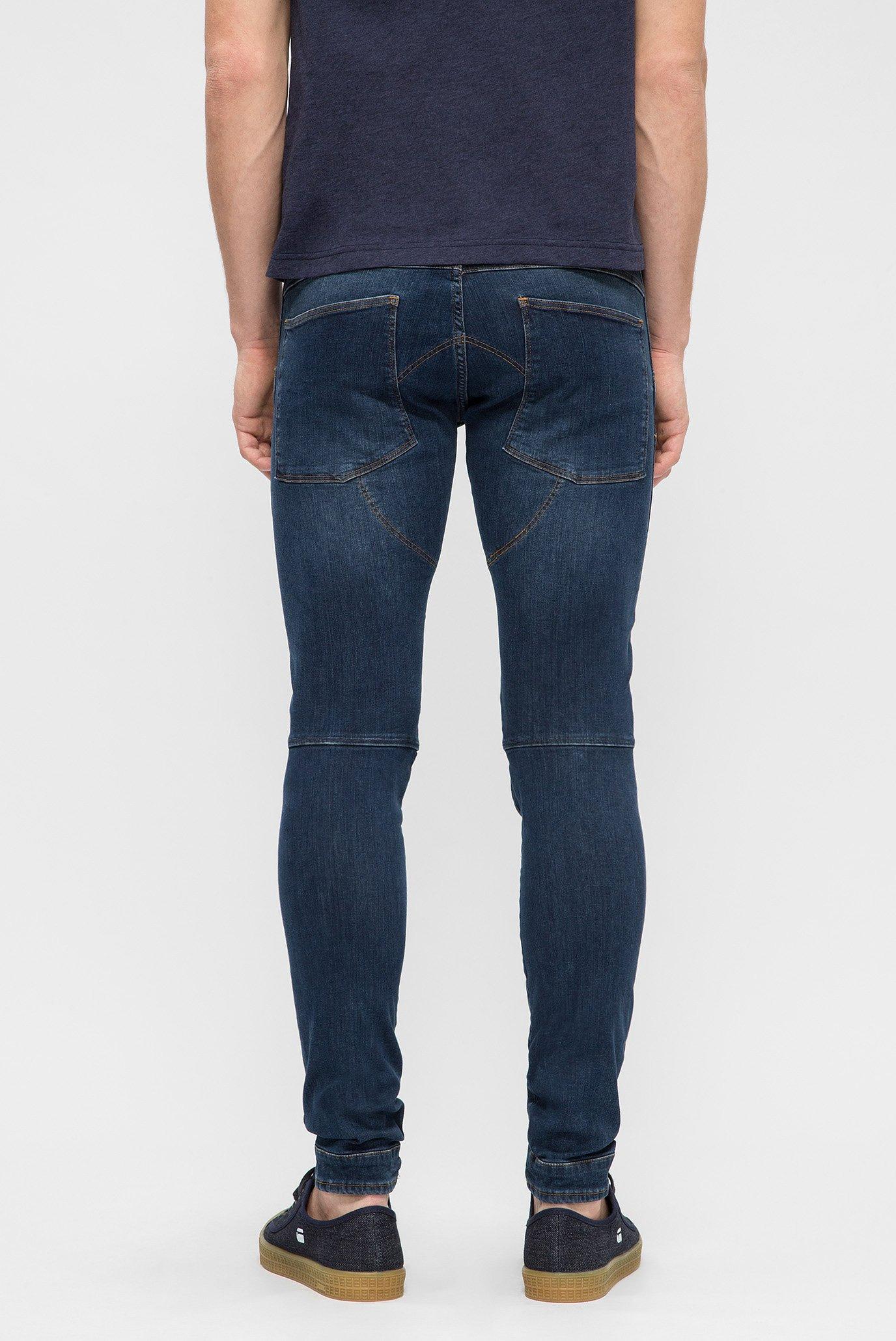 Мужские синие джинсы 3D Super Slim G-Star RAW