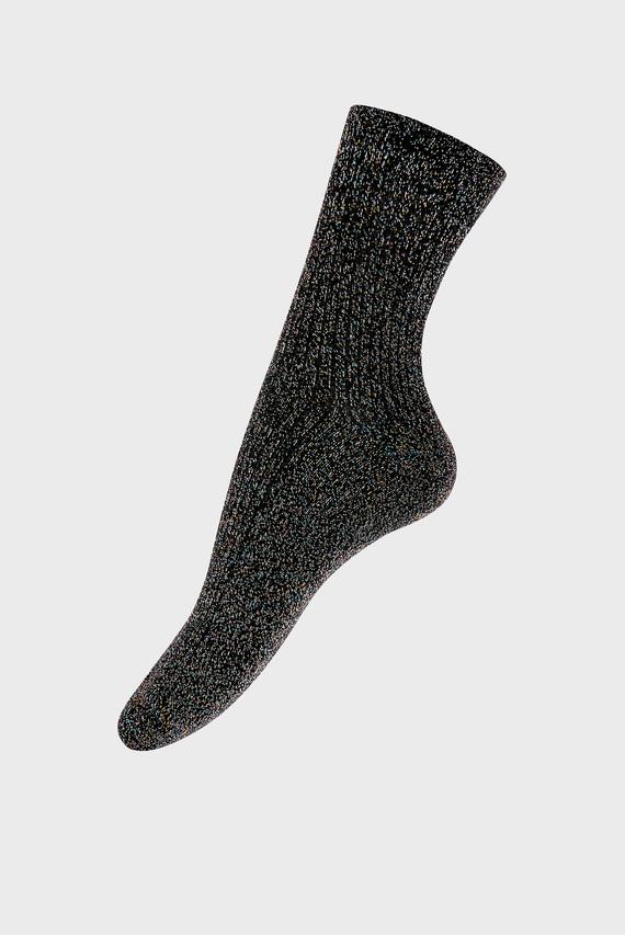 Женские серебристые носки Soft Ribbed Sparkle