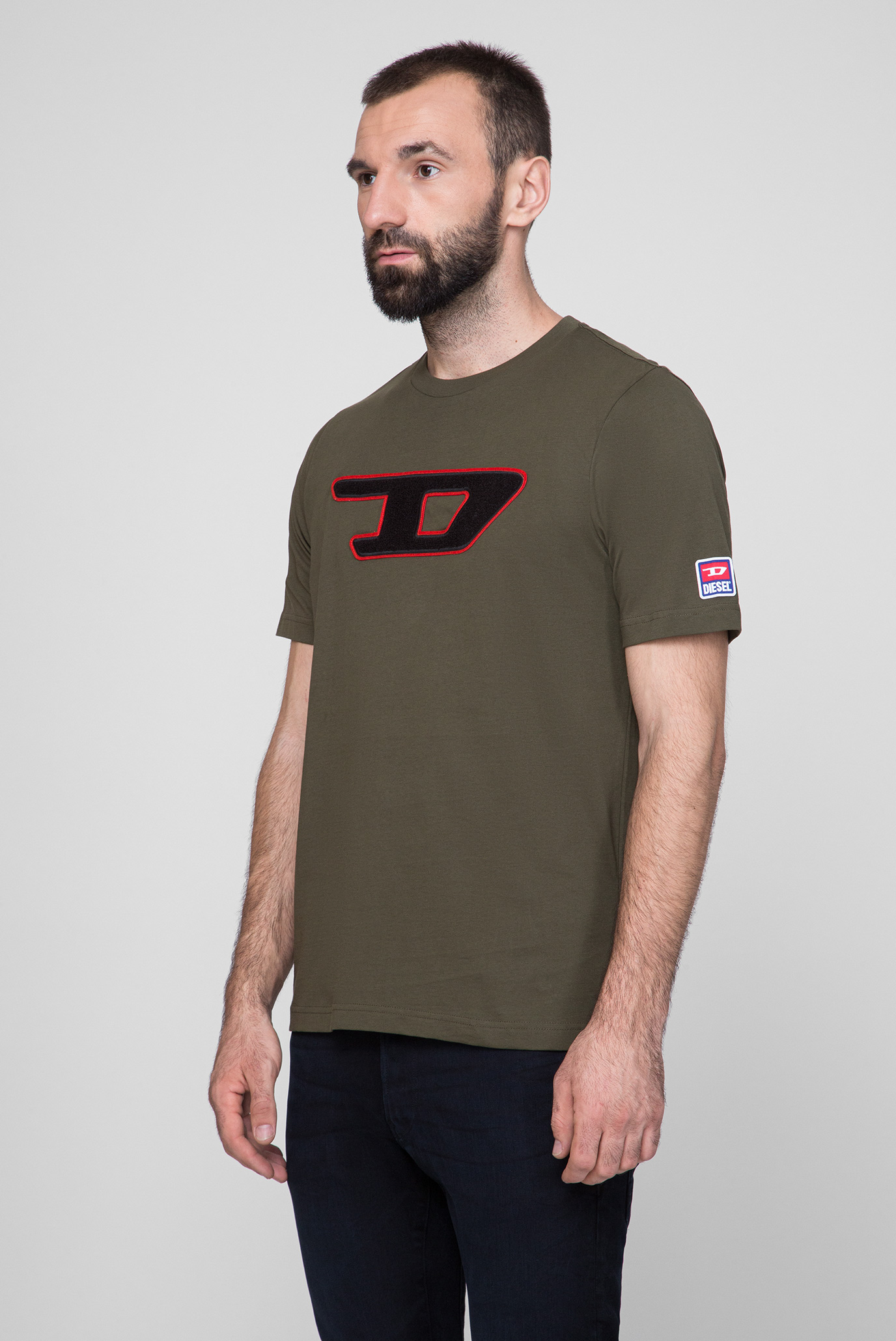Мужская оливковая футболка T-JUST-DIVISION-D MAGLIETTA Diesel