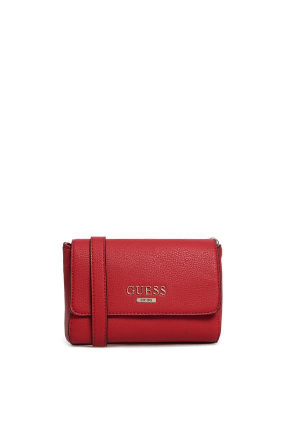 Женская красная сумка через плечо ALMA