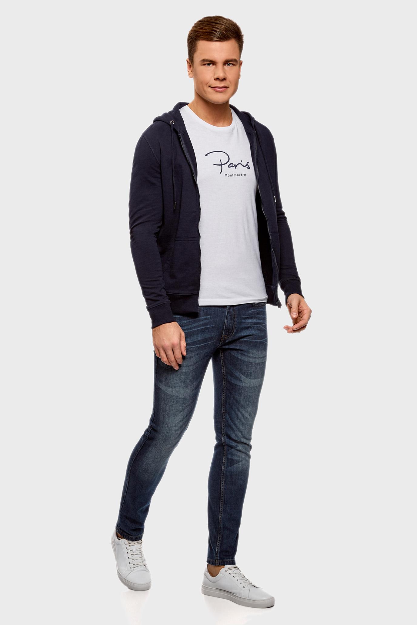 Купить Мужские синие джинсы Oodji Oodji 6L120128M/45068/7500W – Киев, Украина. Цены в интернет магазине MD Fashion