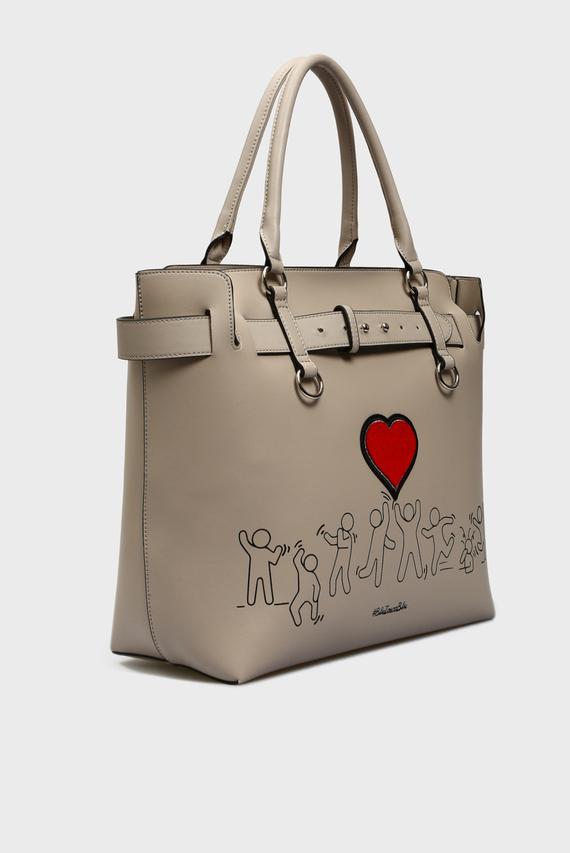Женская бежевая сумка на плечо FASHION REVIVAL