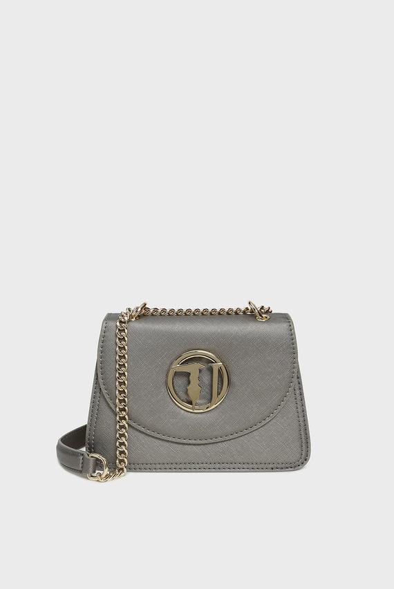 Женская серебристая сумка через плечо SOPHIE