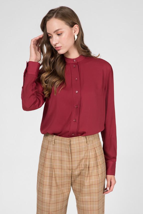 Женская бордовая блуза