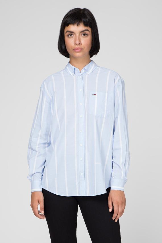 Женская голубая рубашка в полоску TJW STRIPE DETAIL