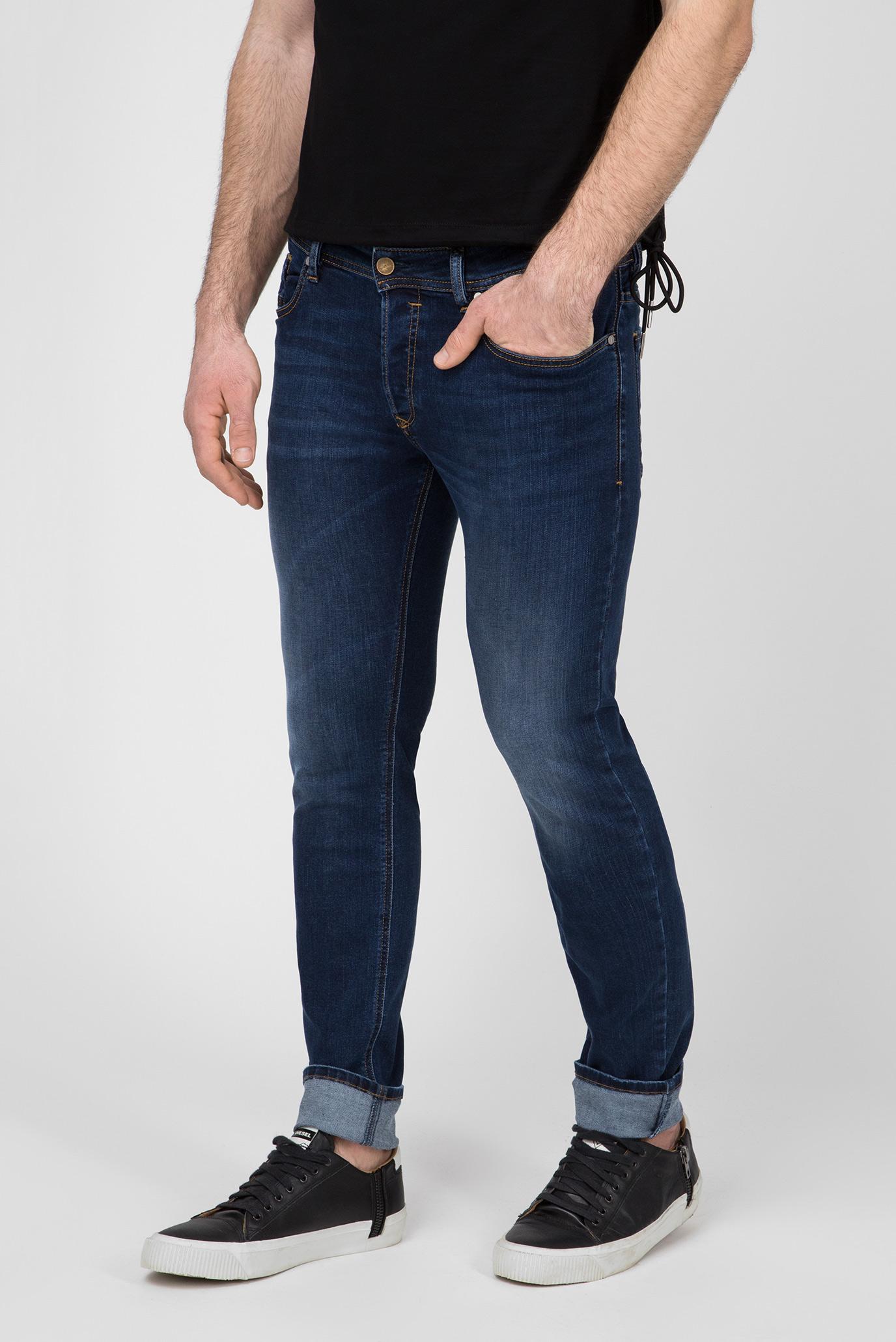 Купить Мужские синие джинсы SLEENKER Diesel Diesel 00S7VG 086AJ – Киев, Украина. Цены в интернет магазине MD Fashion