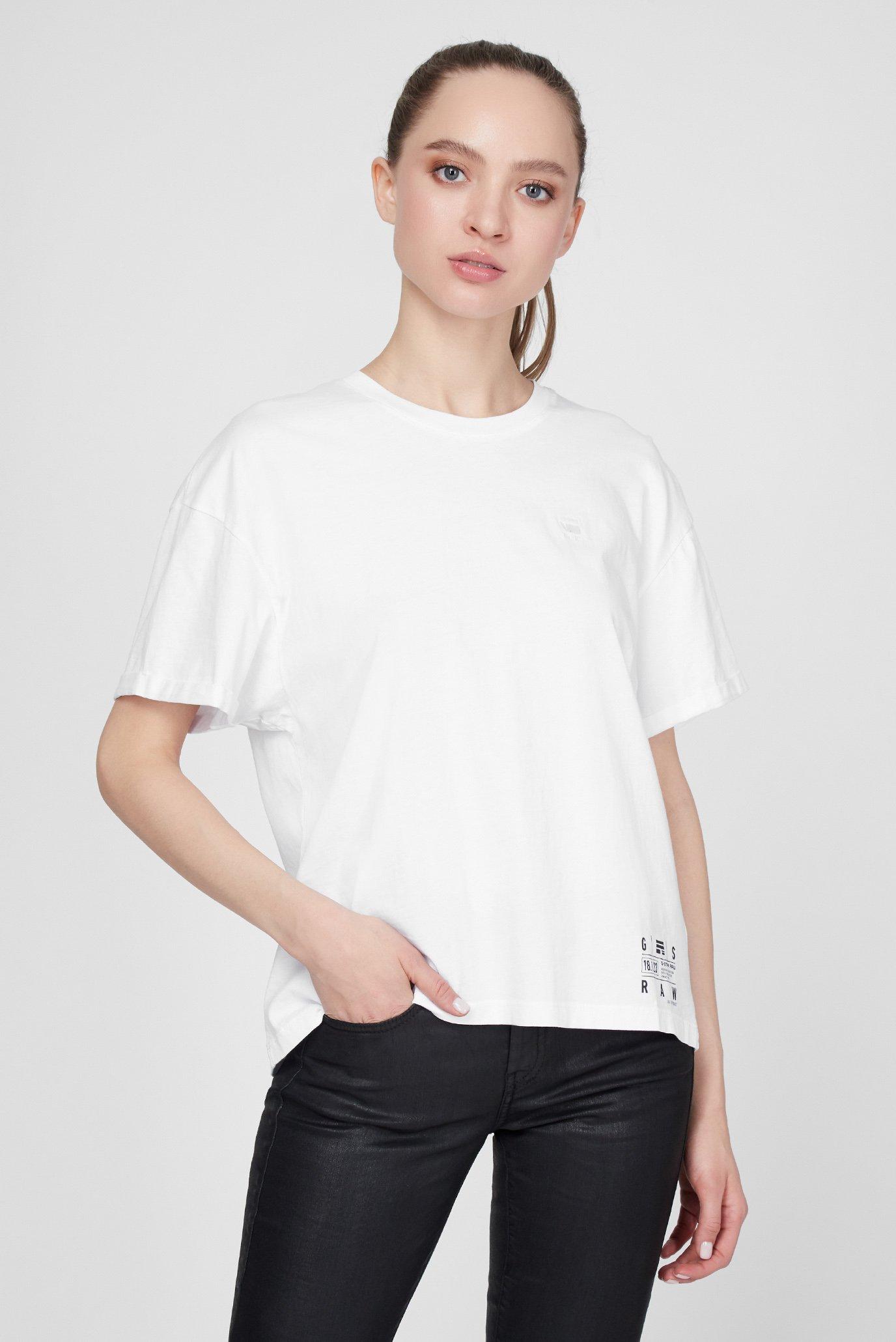 Женская белая футболка Carrni loose 1