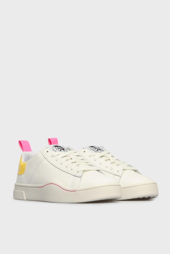 Женские белые кожаные сникеры CLEVER H6971