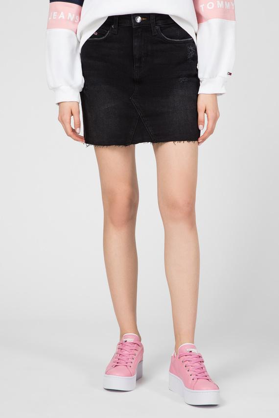 Женская черная джинсовая юбка SHORT